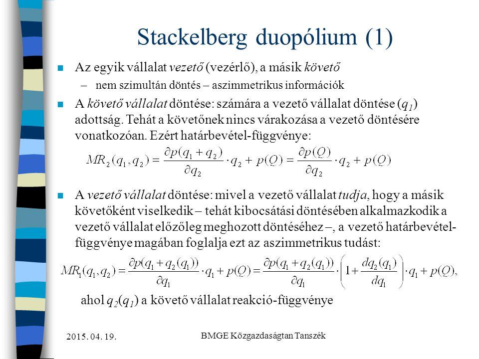 Stackelberg duopólium (1)