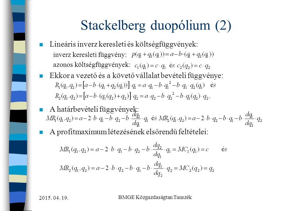 Stackelberg duopólium (2)