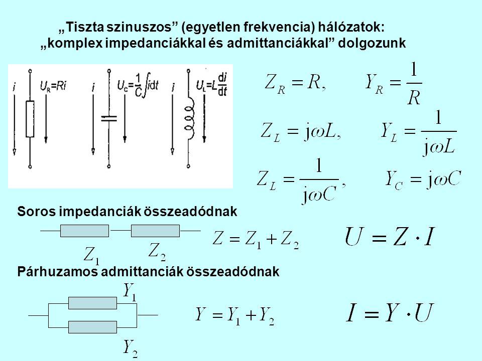 """""""Tiszta szinuszos (egyetlen frekvencia) hálózatok:"""