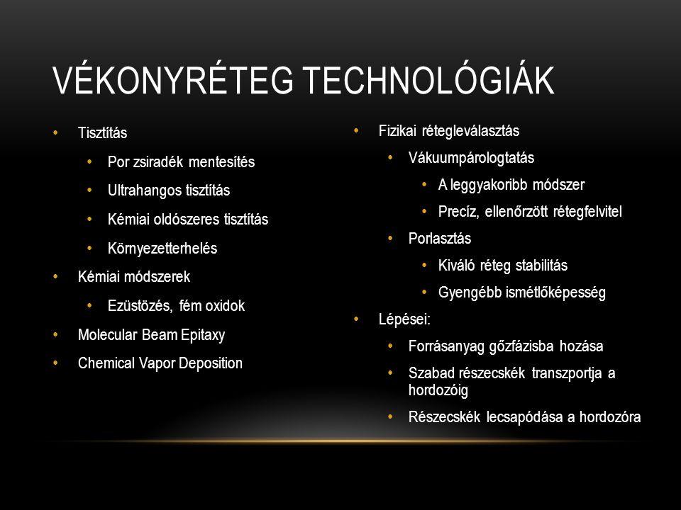 Vékonyréteg technológiák