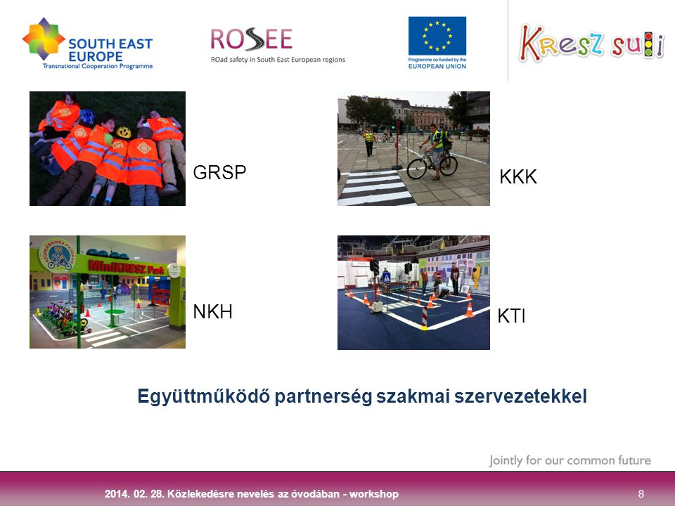 Együttműködő partnerség szakmai szervezetekkel