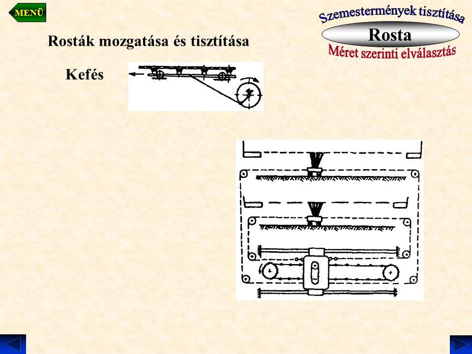 Rosta Rosták mozgatása és tisztítása Kefés Szemestermények tisztítása