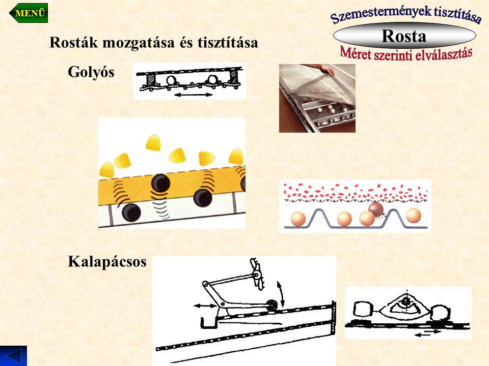 Rosta Rosták mozgatása és tisztítása Golyós Kalapácsos
