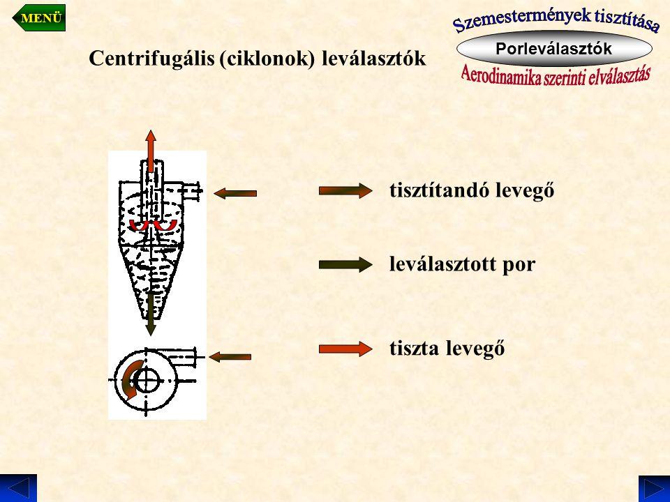 Centrifugális (ciklonok) leválasztók