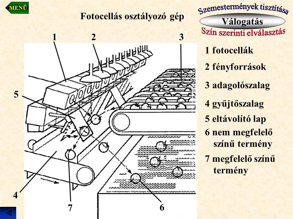 Fotocellás osztályozó gép Válogatás