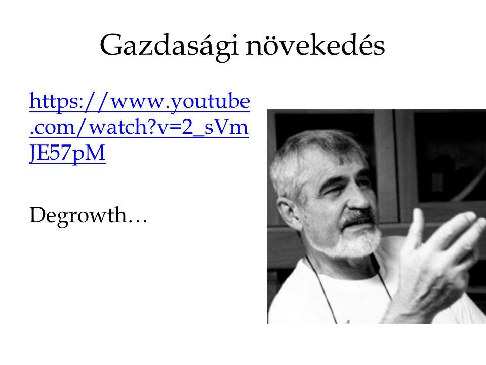 Gazdasági növekedés https://www.youtube.com/watch v=2_sVmJE57pM Degrowth…