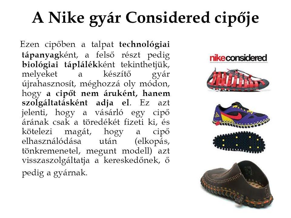 A Nike gyár Considered cipője