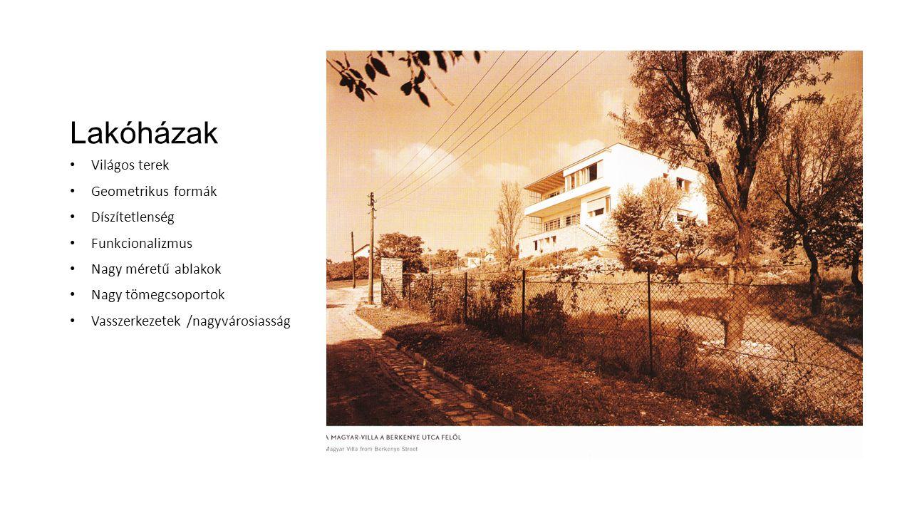 Lakóházak Világos terek Geometrikus formák Díszítetlenség
