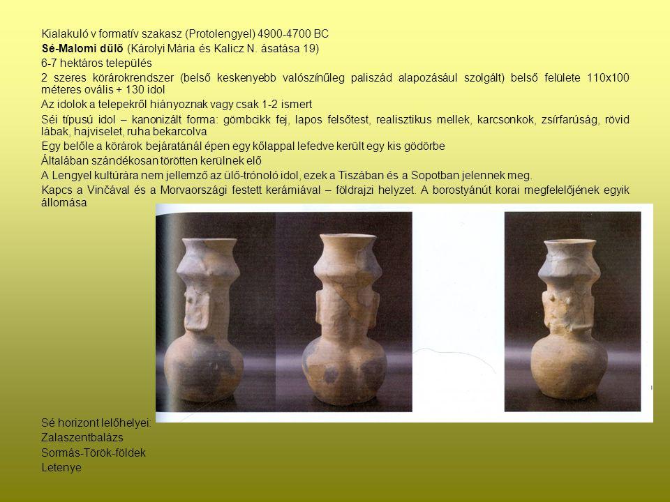 Kialakuló v formatív szakasz (Protolengyel) 4900-4700 BC