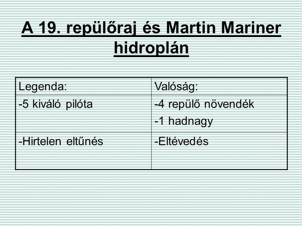 A 19. repülőraj és Martin Mariner hidroplán