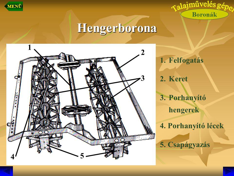 Hengerborona 1 2 Felfogatás Keret Porhanyító 3 hengerek