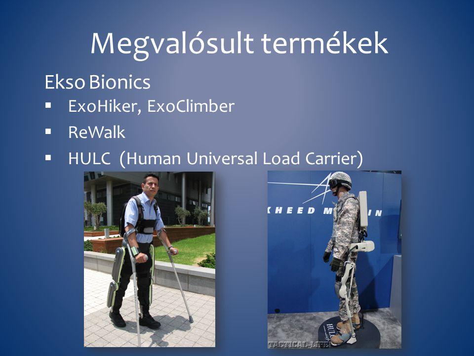 Megvalósult termékek Ekso Bionics ExoHiker, ExoClimber ReWalk