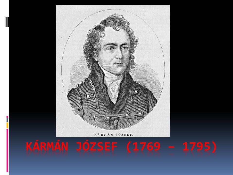 KÁRMÁN JÓZSEF (1769 – 1795)