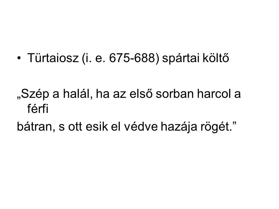 Türtaiosz (i. e. 675-688) spártai költő