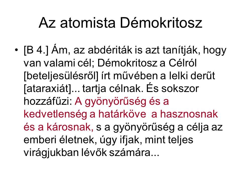 Az atomista Démokritosz