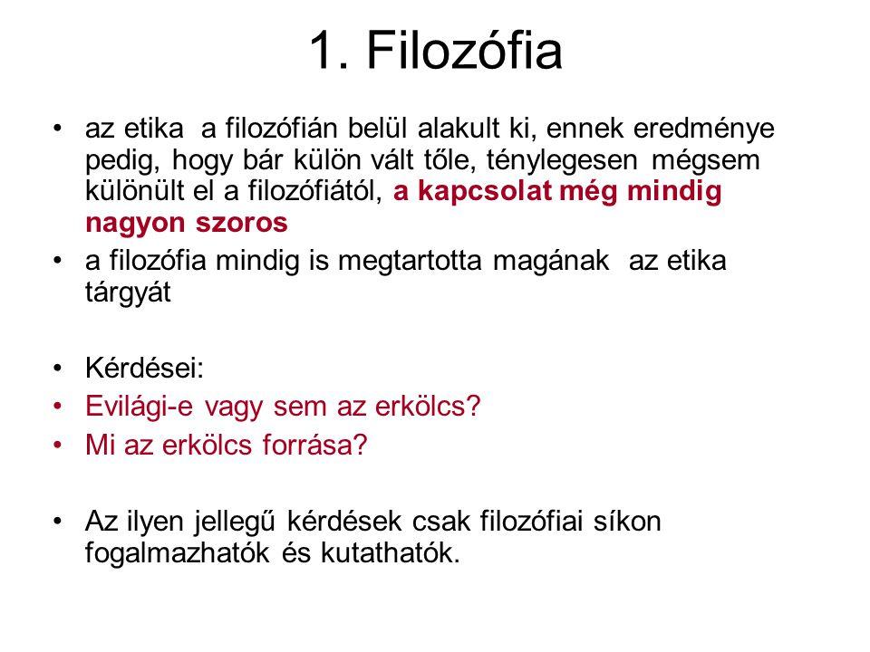 1. Filozófia
