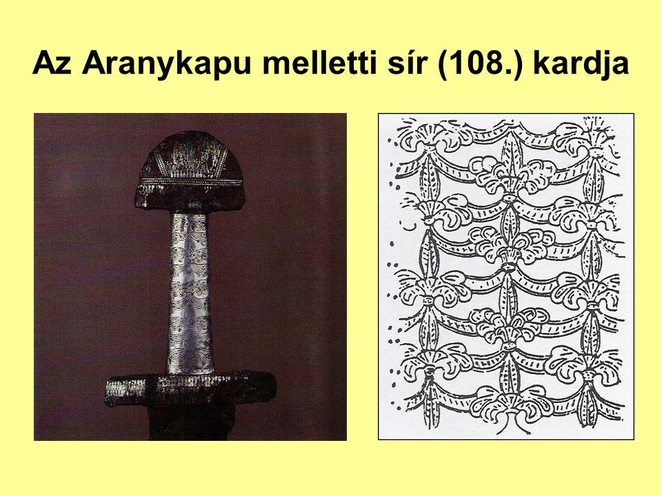 Az Aranykapu melletti sír (108.) kardja