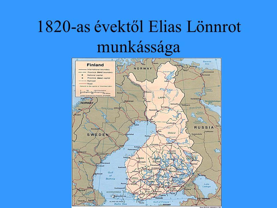 1820-as évektől Elias Lönnrot munkássága