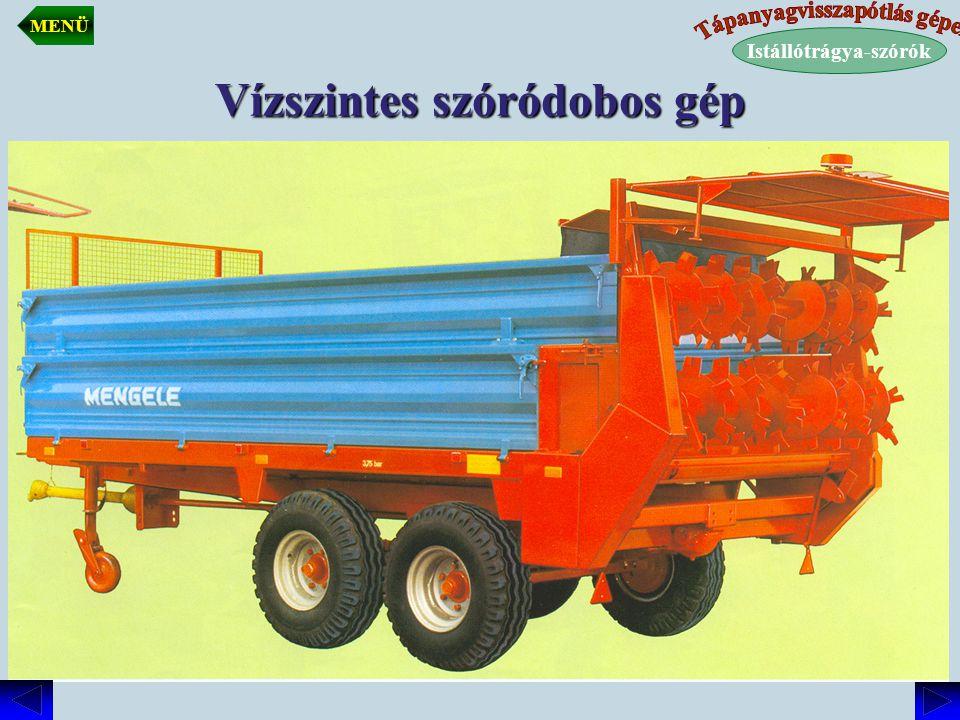 Vízszintes szóródobos gép