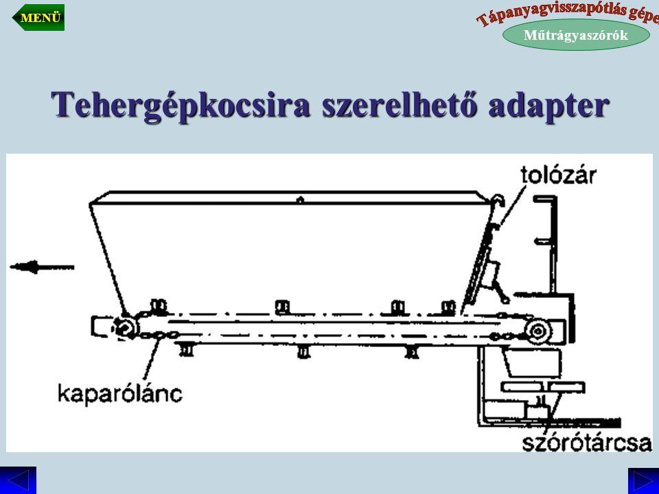 Tehergépkocsira szerelhető adapter