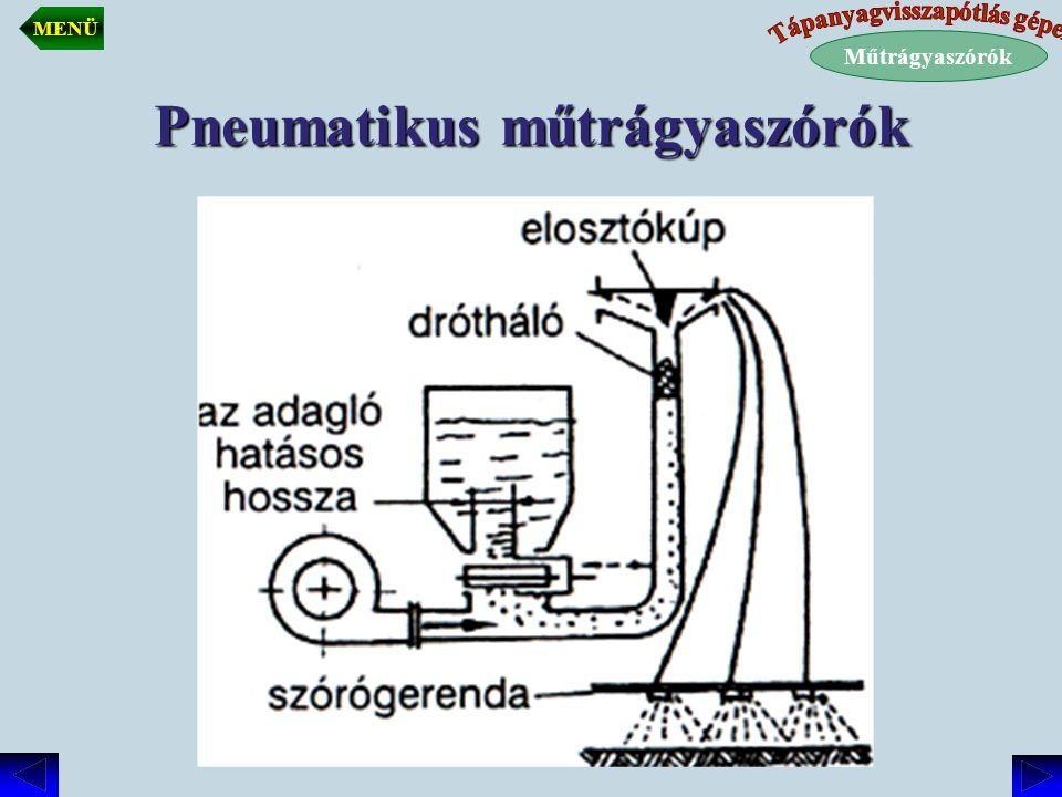 Pneumatikus műtrágyaszórók