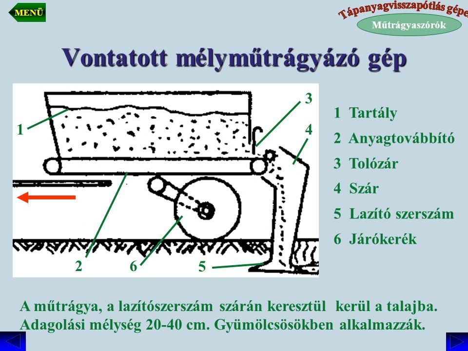 Vontatott mélyműtrágyázó gép