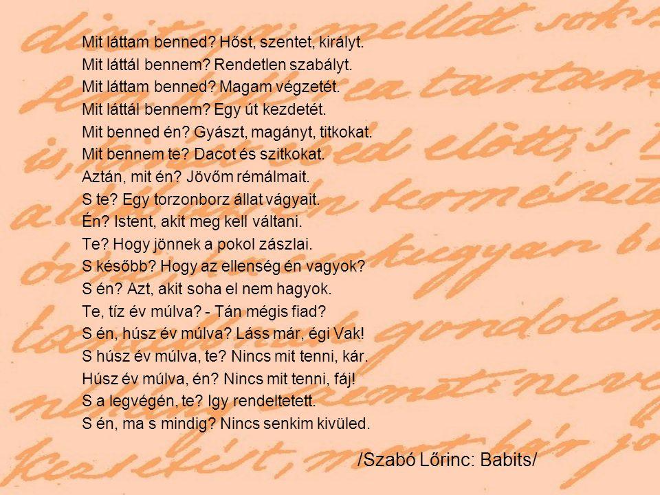 /Szabó Lőrinc: Babits/