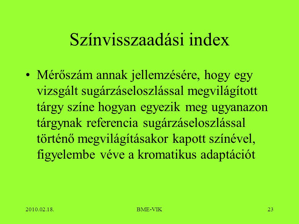 Színvisszaadási index