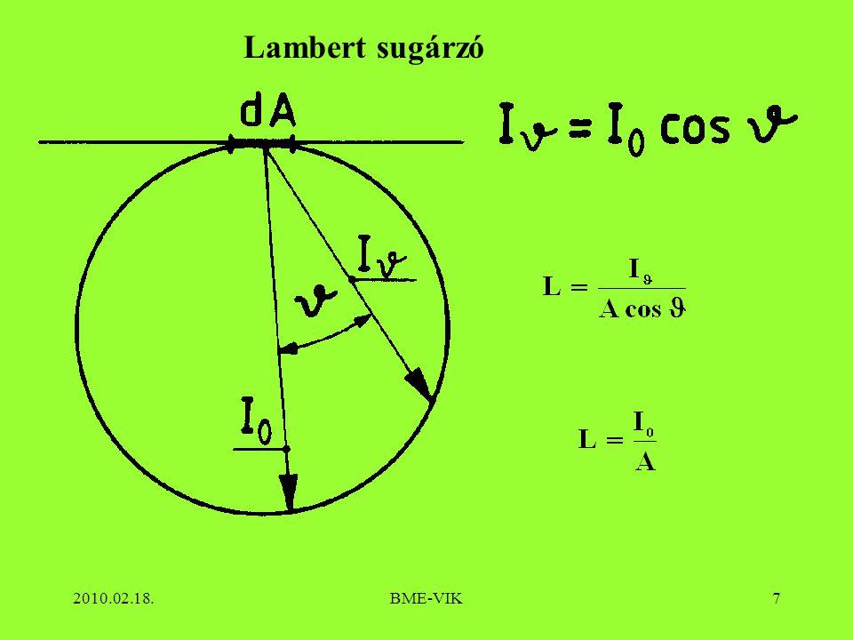 Lambert sugárzó 2010.02.18. BME-VIK