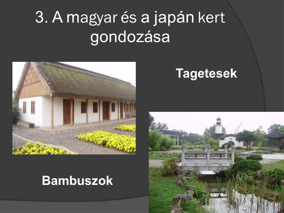 3. A magyar és a japán kert gondozása