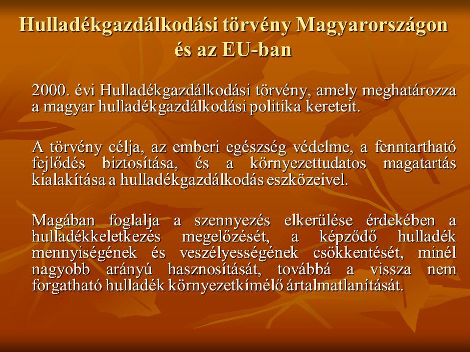 Hulladékgazdálkodási törvény Magyarországon és az EU-ban
