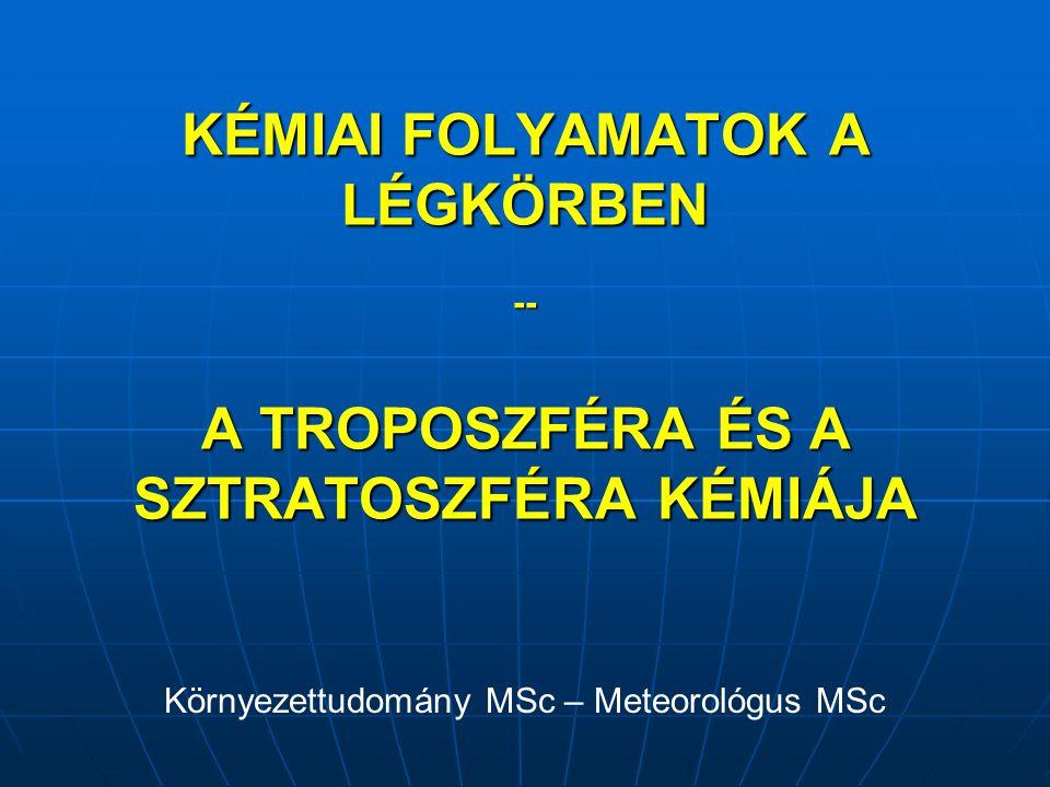 Környezettudomány MSc – Meteorológus MSc