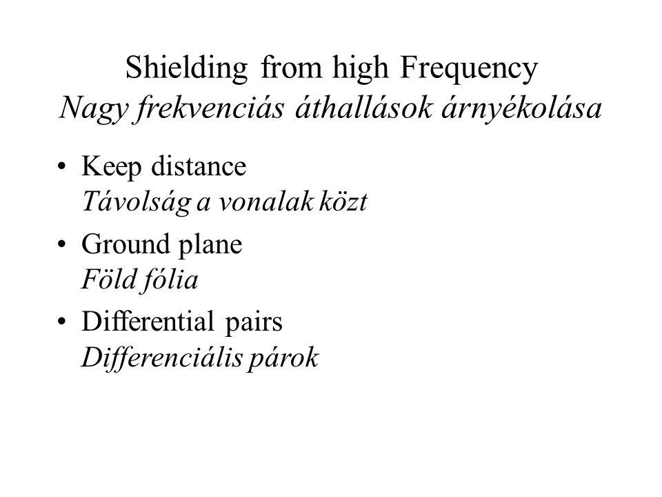 Shielding from high Frequency Nagy frekvenciás áthallások árnyékolása