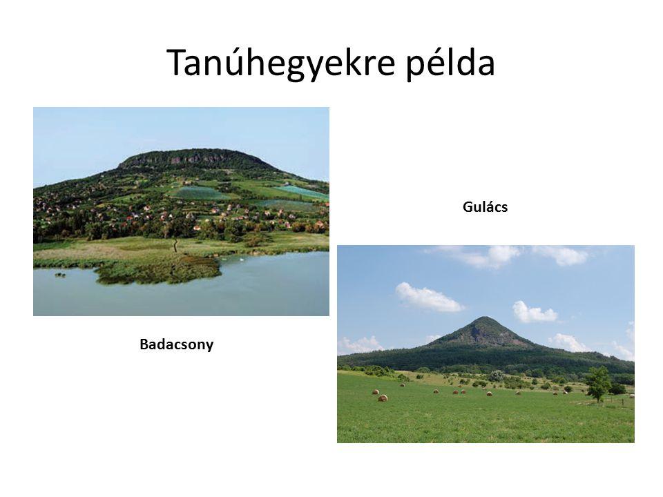 Tanúhegyekre példa Gulács Badacsony