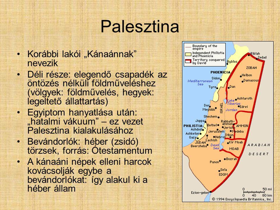 """Palesztina Korábbi lakói """"Kánaánnak nevezik"""