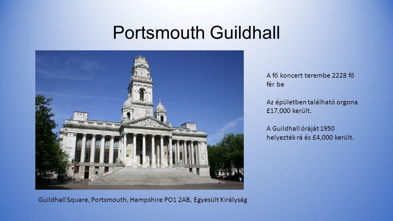 Portsmouth Guildhall A fő koncert terembe 2228 fő fér be