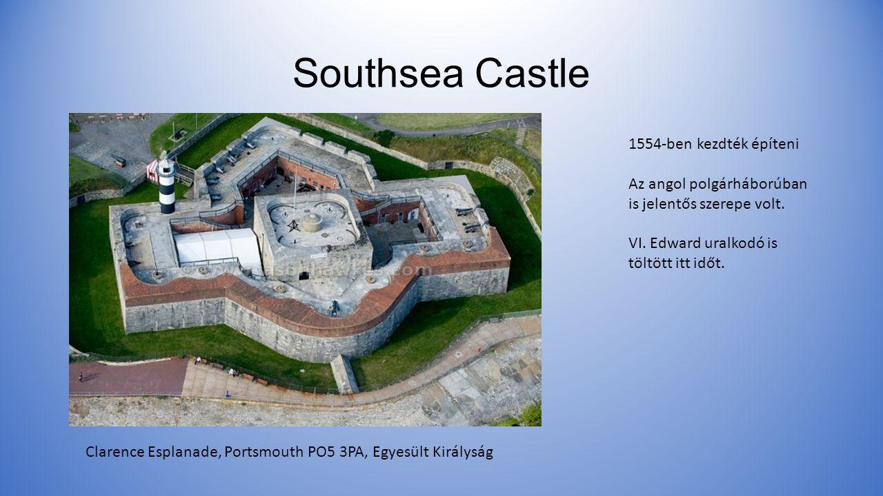 Southsea Castle 1554-ben kezdték építeni Az angol polgárháborúban