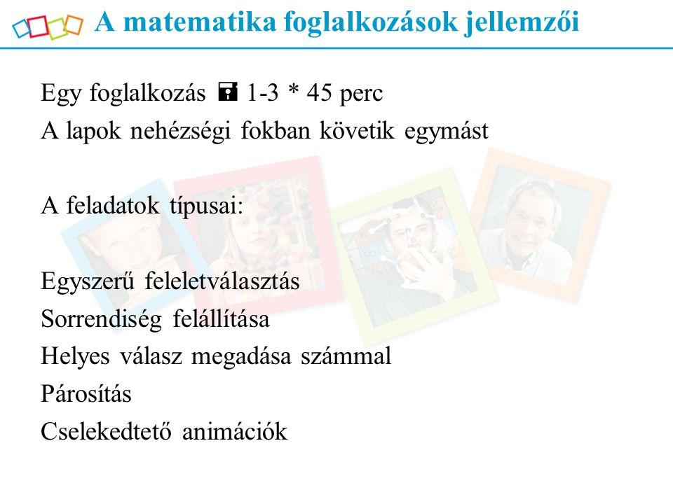 A matematika foglalkozások jellemzői