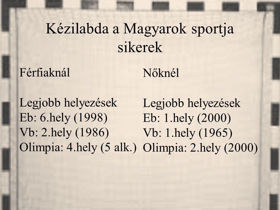 Kézilabda a Magyarok sportja sikerek