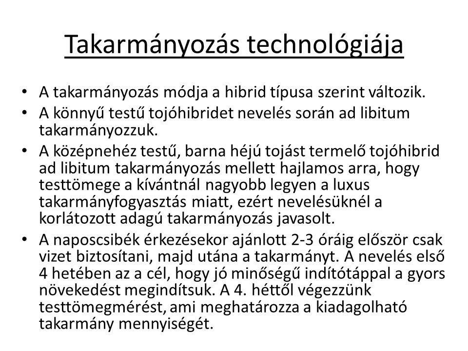 Takarmányozás technológiája