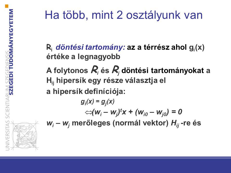 Konvexitás Könnyű megmutatni, hogy a lineáris géppel definiált döntési tartományok konvexek. Ez rontja az osztályozó flexibilitását és pontosságát…