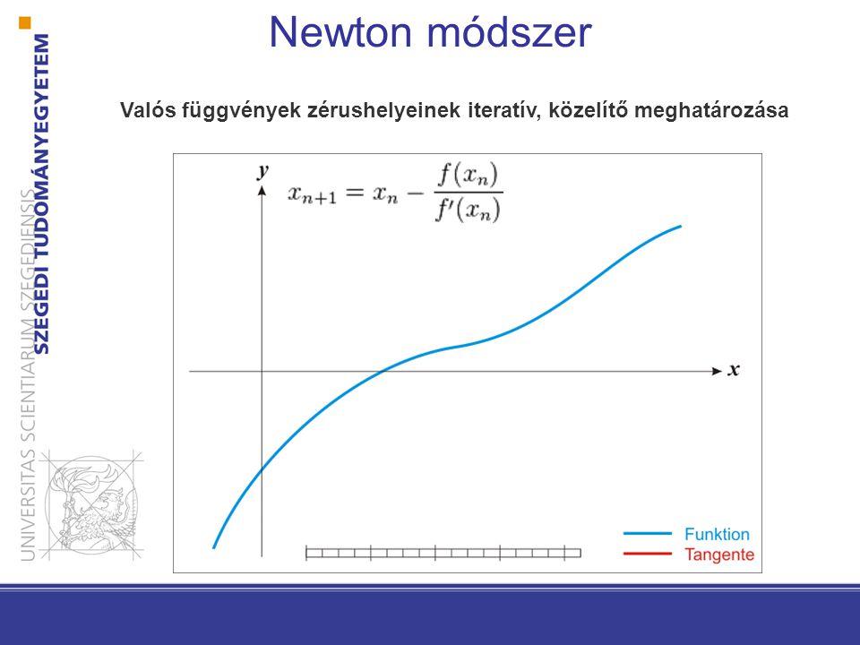 Newton módszer Hogyan válasszuk a h(k) tanulási arányt