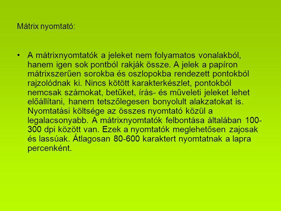 Mátrix nyomtató: