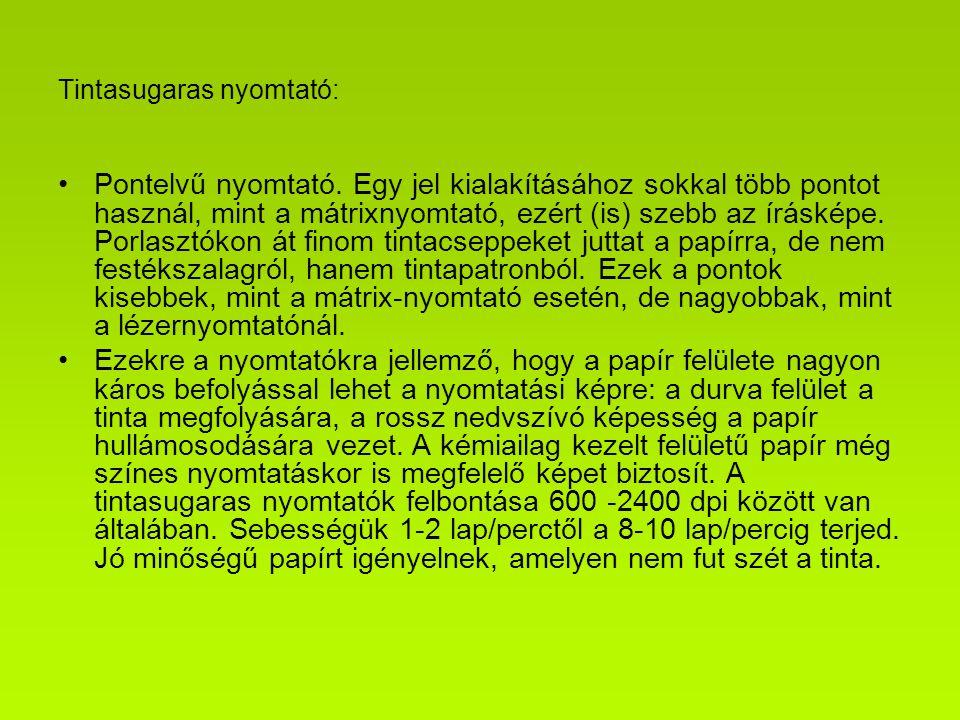 Tintasugaras nyomtató:
