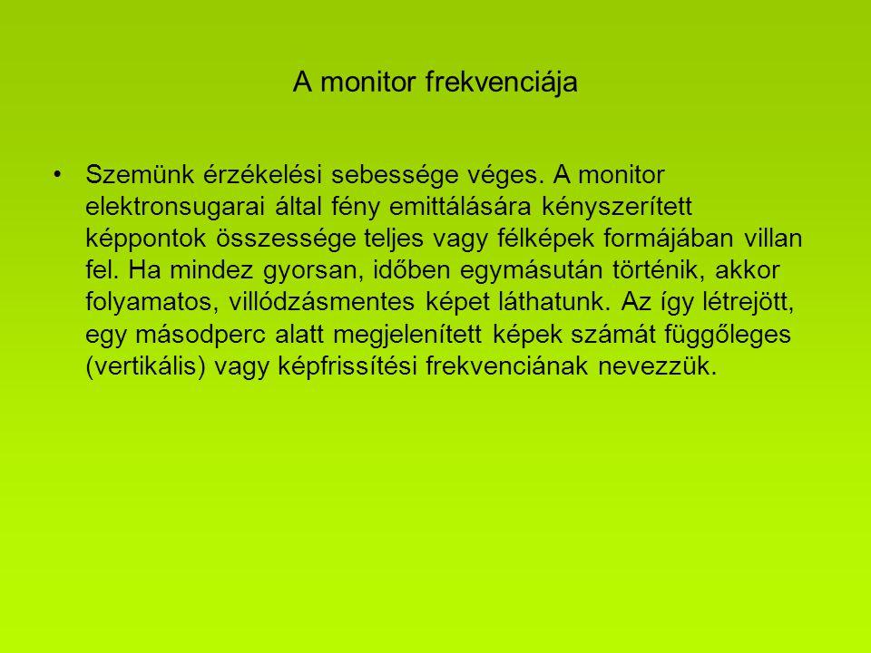 A monitor frekvenciája