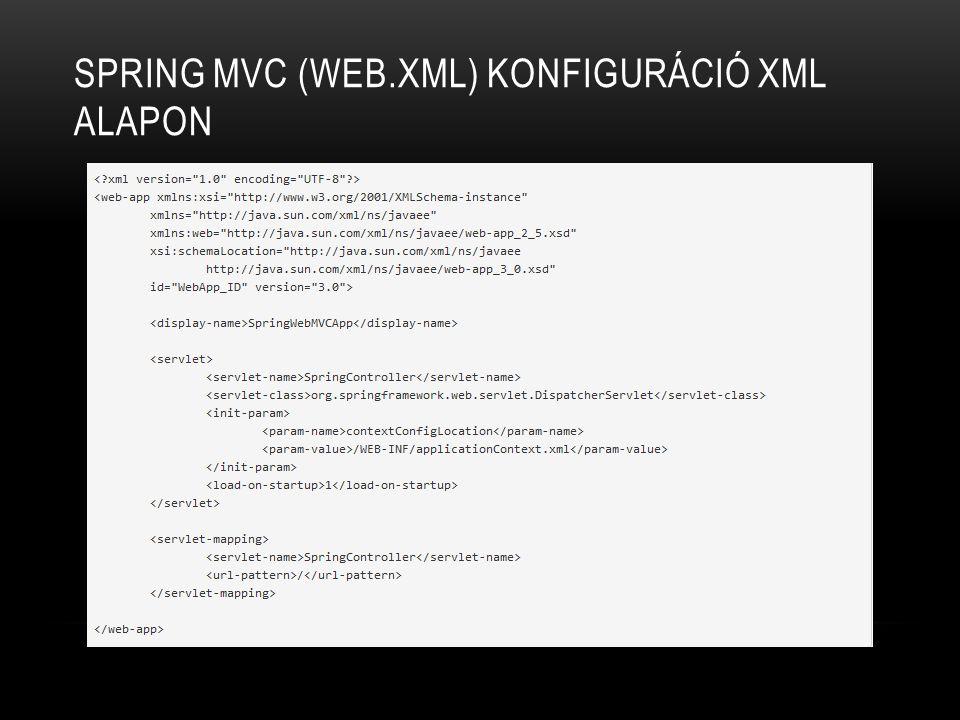 Spring MVC (web.xml) konfiguráció XML alapon