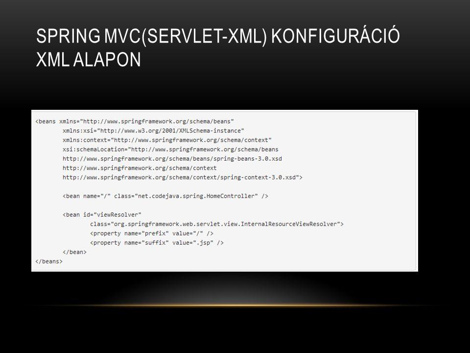 Spring MVC(servlet-xml) konfiguráció XML alapon