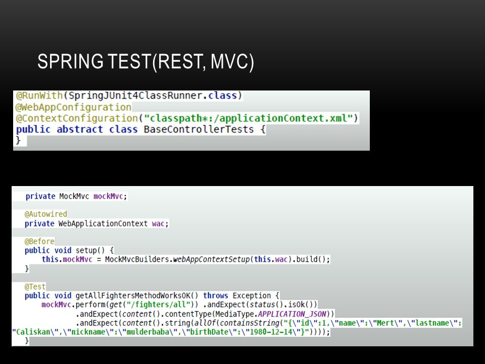 Spring Test(REST, MVC)