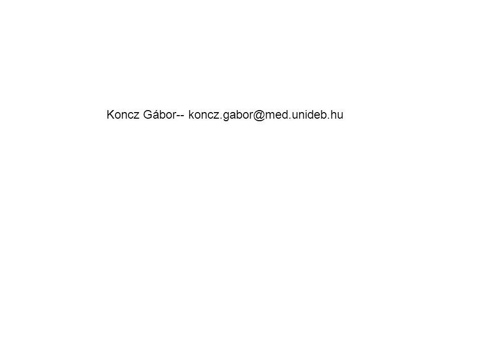 Koncz Gábor-- koncz.gabor@med.unideb.hu