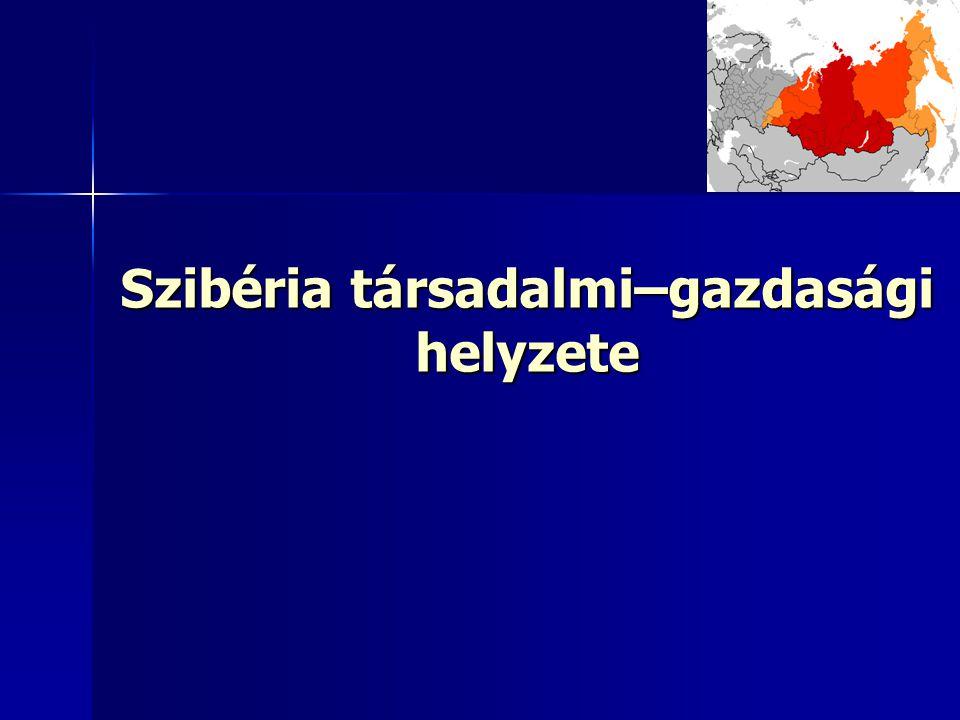 Szibéria társadalmi–gazdasági helyzete